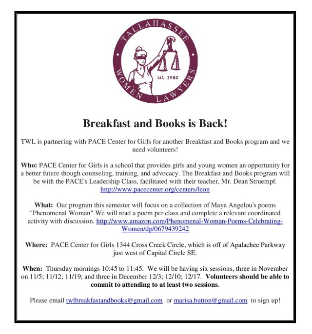 Breakfast and Books is Back