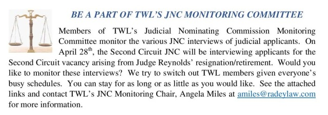 JNC Committee Announcement