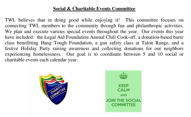 Social & Charitable Events Committee